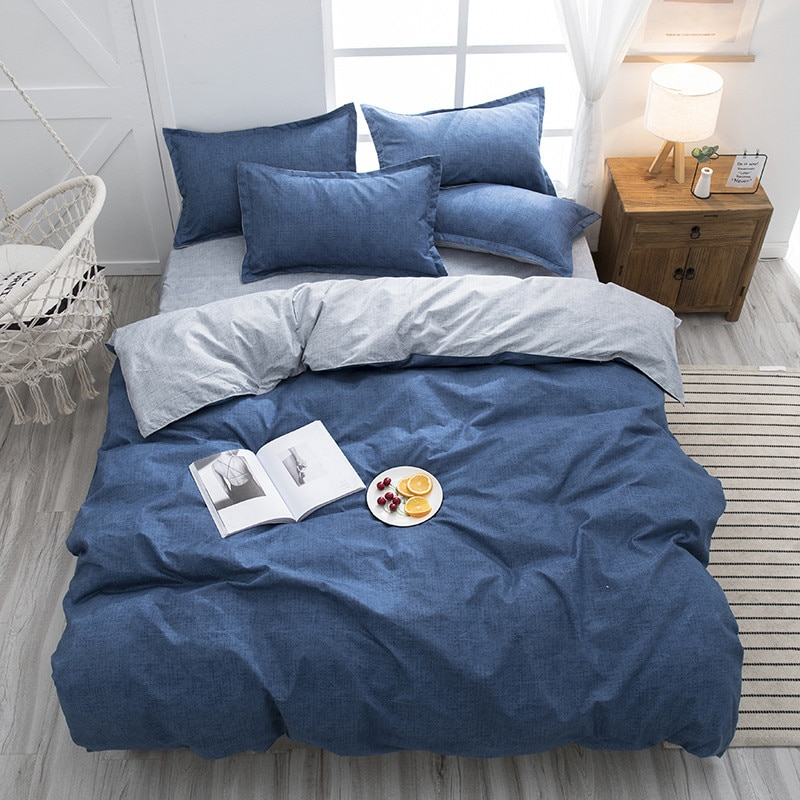 Однотонное постельное белье большого размера, роскошный мультяшный Комплект постельного белья, постельное белье, одеяло, наволочка, хлопко...