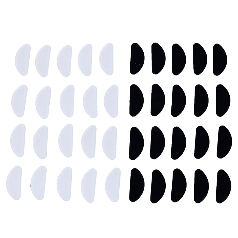 10pcs/lot Glasses Nose Pads Adhesive Silicone Nose Pads Non-slip White Thin Nosepads for Glasses Eye