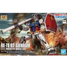 Bandai HG GTO 026 1/144 RX-78-2 Yuanzu Gundam Herkunft Action Montage Figureals Brinquedos Modell