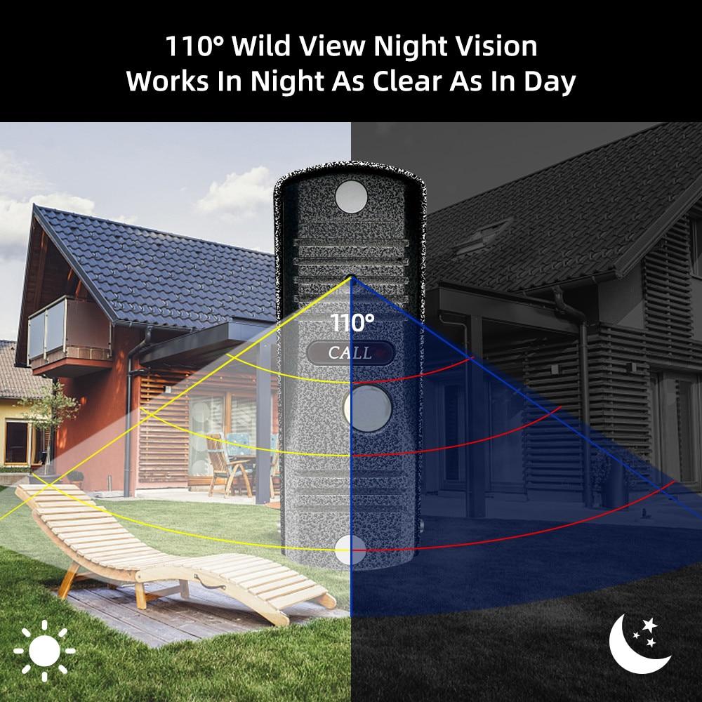 Doornany AHD 720P WiFi Smart Video Intercom System For Villa With Tuya Access Control & Motion Detection Video Doorphone enlarge
