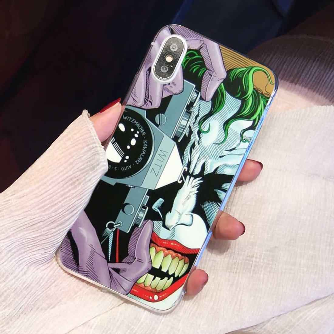 Batman comando suicida Joker suave de TPU para Samsung Galaxy nota 2 3 4 5 8 9 S2 S3 S4 S5 Mini S6 S7 borde S8 S9 Plus