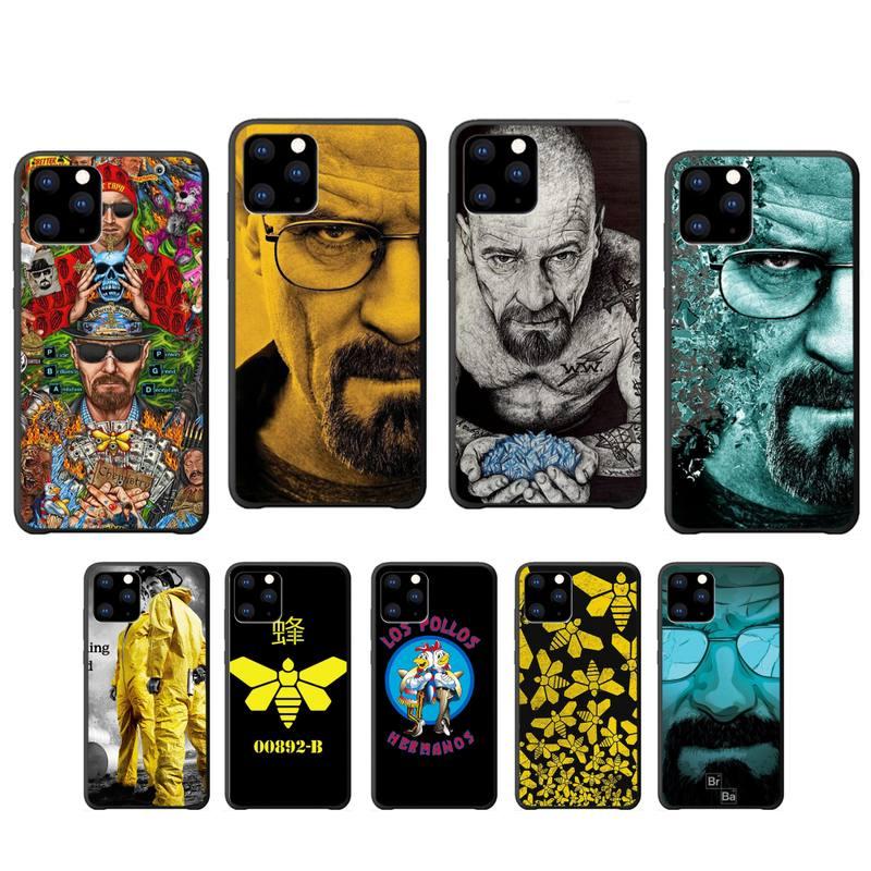 YJY Heisenberg rompiendo mal de silicona caso coque para iphone se 2020 6s 6 7 8 plus x xs x max xr 11 12 pro max cubierta