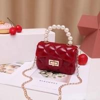2021 new jelly bag pearl handbag jelly bag lipstick bag crossbody bags for women shoulder bag crystal evening bags pink girl