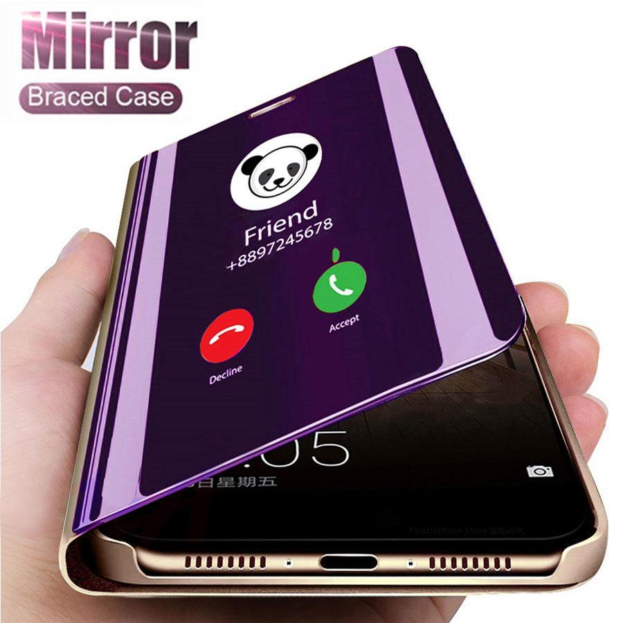 Funda abatible inteligente con espejo de lujo para Huawei Honor 9 Lite original fundas magnéticas huawai Honor9 9 Lite LLD-L31 en la cubierta del teléfono