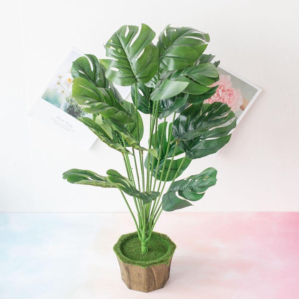 Искусственные листья пальмовых растений, листья черепахи, тропические большие листья пальмовых деревьев, имитация листьев, растения, украшения для дома и кухни