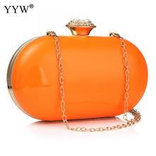 Bolso estilo Mini Clutch 2020 a la moda de Color caramelo, bolsos de hombro con cadena, bolso cruzado, carteras de día naranja, bolso de mano y bolso de mano para mujer