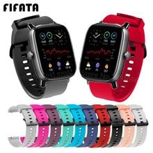 FIFATA-Correa de silicona para reloj inteligente, pulsera de 20mm para Huami Amazfit GTS 2 Mini 2e, Xiaomi Amazfit Bip U / S / Gts2
