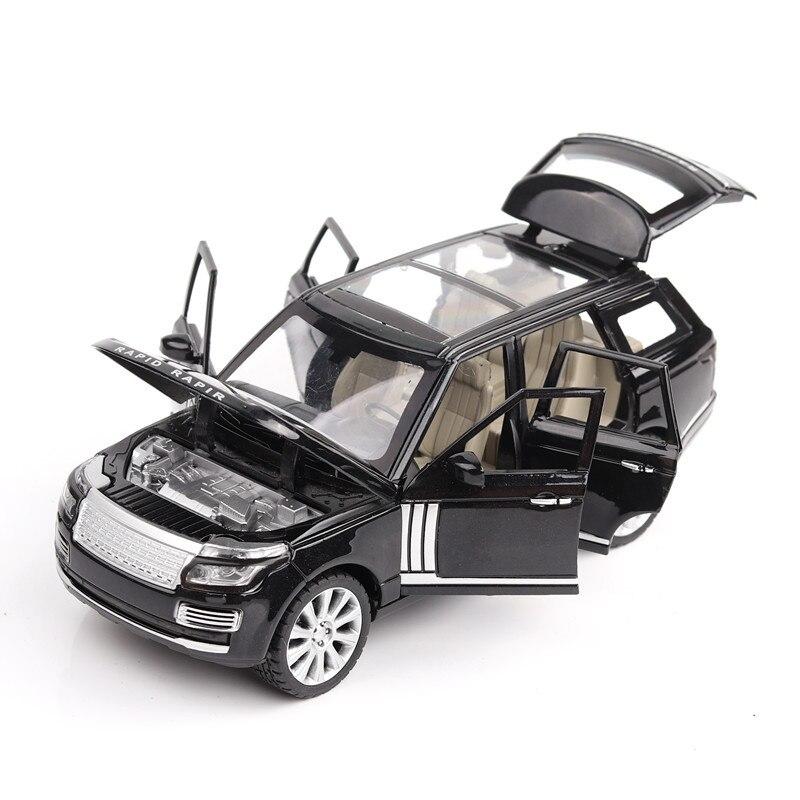 Las 124 de aleación de coche de juguete-rango de Rover SUV sonido de simulación y tirador de puerta a los niños de coche de juguete modelo de Diecast vehículos de juguete de regalo