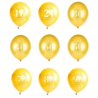 12inch gold black latex balloons 16 18 21 30 40 50 60 70 80 90 happy birthday gifts decorations wedding ballons party supplies