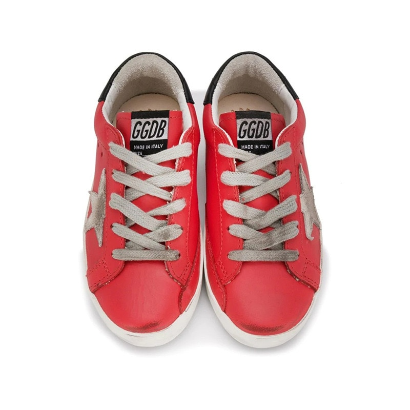 2021 Children's Spring New First Layer Cowhide Old Small Dirty Shoes for Boys and Girls Casual Low-cut Kids Sneakers CS214 enlarge