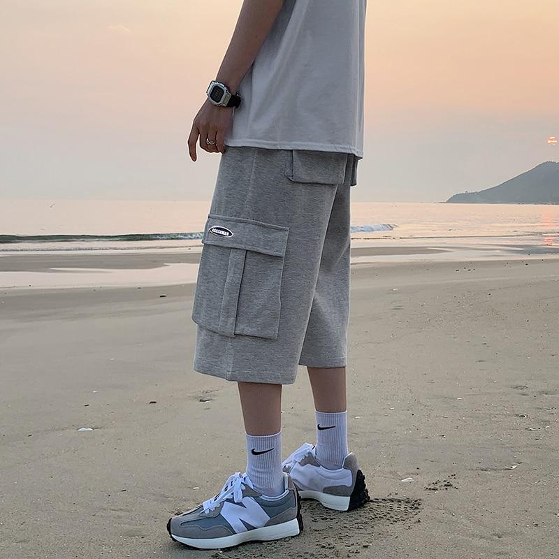 2021 Tidy Sport Jogging Men Plus Pure Color Lash Shorts Fitness Fifth Pants Short  - buy with discount