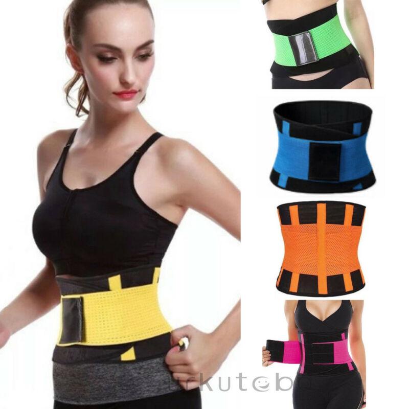 Hombres Mujeres deporte Shapewear Sweat cinturón cintura Cincher Trainer recortador gimnasio cuerpo ropa interior Body Building Shaper