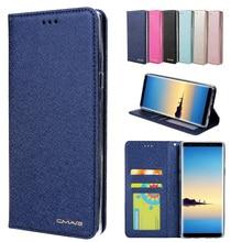 Portefeuille en cuir de soie étui pour samsung Galaxy A10 A20 A30 A50 A70 M20 S10 Note 10 housse de téléphone avec aimant porte-carte Coque à rabat