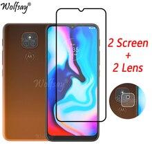 Full Cover Tempered Glass For Motorola Moto E7 Plus Screen Protector For Motorola E7 Plus Camera Gla