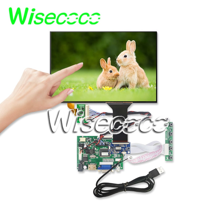 Wisecoco 10,1 pulgadas 1280*800 IPS pantalla táctil LCD Kit Win7 8 10 Raspberry Pi Android Linux Industrial USB 5V