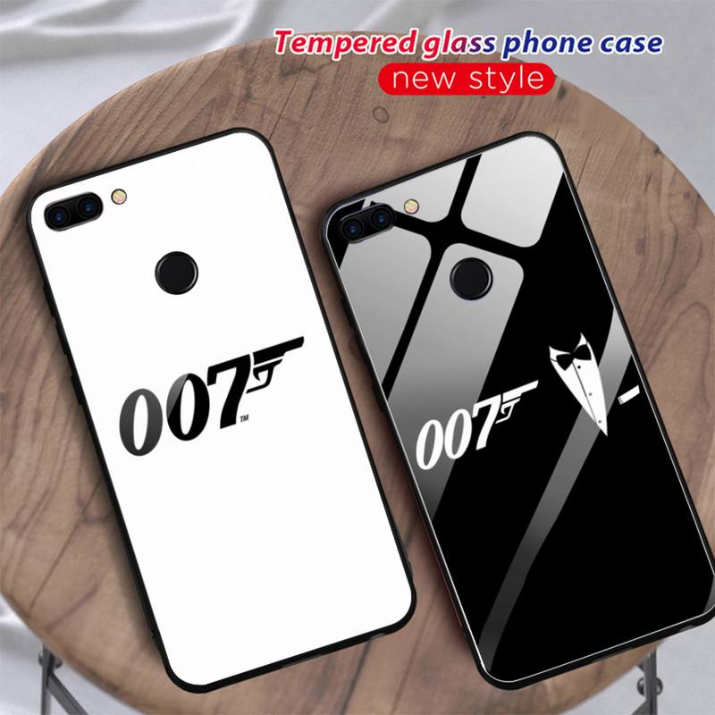 Movies James Bond 007 Phone Case For Huawei Mate 9 10 lite 20Pro&Tempered Glass Back Cover For Honor 7A 8X V10