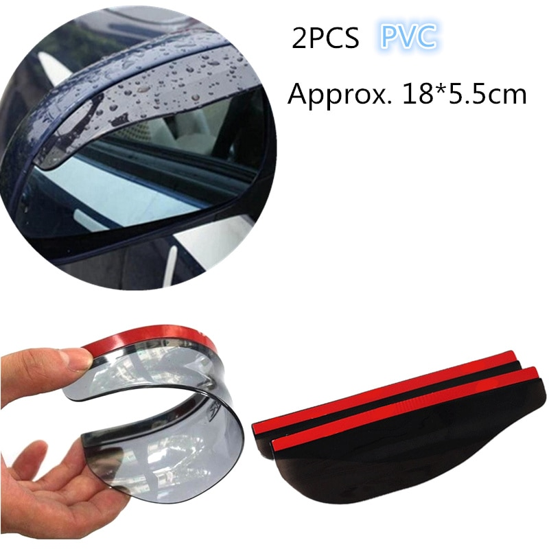 2 piezas Universal Flexible PVC lluvia ceja accesorios para coche espejo retrovisor para Ford Focus 2 3 4 Mk2 Lada Vesta volvo Xc60 S60 V60