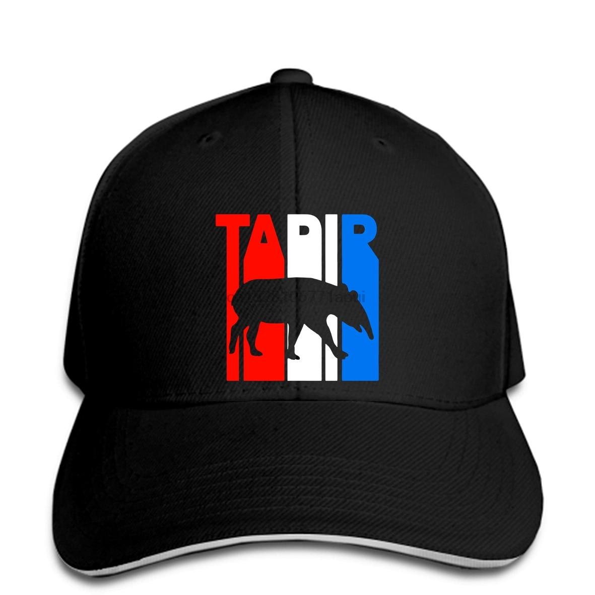 Gorra de béisbol divertida para hombre, gorra estampada para mujer, novedad, gorra Retro RWnB Tapir, silueta, gorras de béisbol geniales, gorras de béisbol