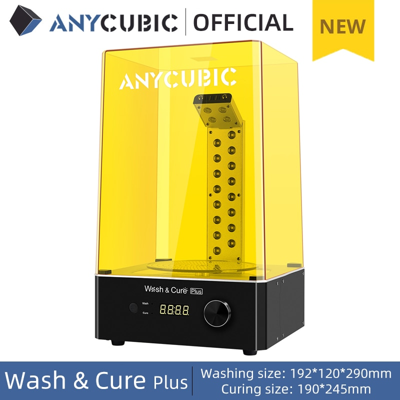 ANYCUBIC Wash & Cure Plus Washing Curing 2 in 1 Machine For Mars Pro Photon Mono X LCD 3D Printer 3D Printing Models