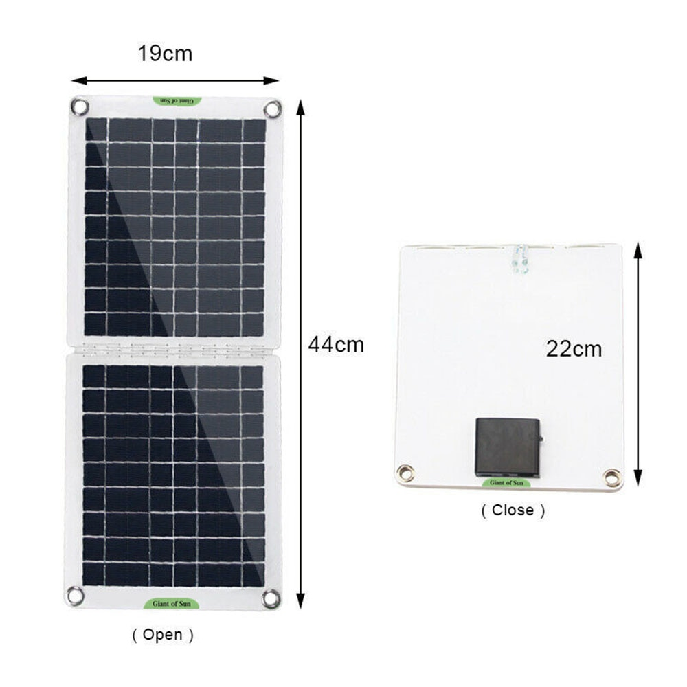 60 واط لوحة شمسية قابلة للطي مجموعة 18/12 فولت الطاقة الشمسية الهاتف شاحن بمنفذ USB مزدوج بطارية مجلس شحن أداة Ooudoor التخييم التنزه