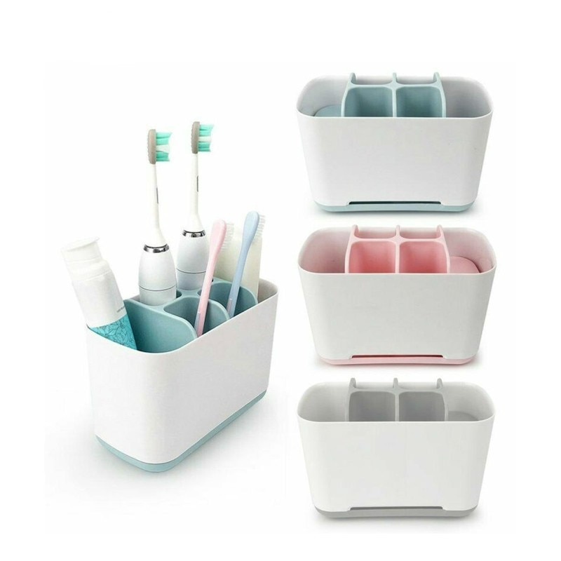 1pcs Toothbrush Toothpaste Holder Case Shaving Makeup Brush Electric Toothbrush Holder Organizer Stand Bathroom Accessories