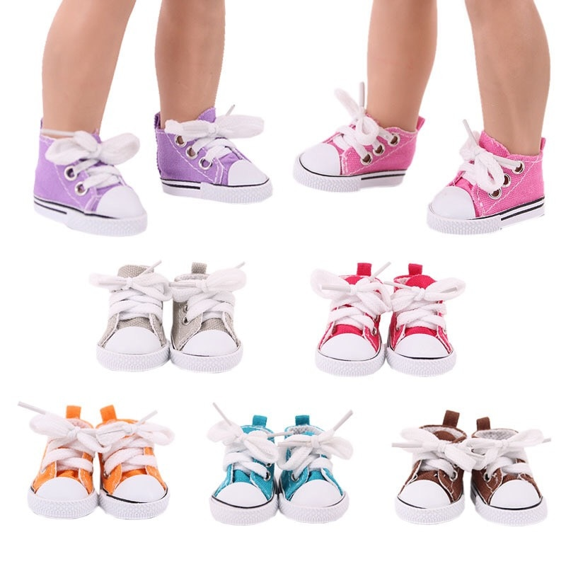 Fit 17 inch 43cm Doll Shoes Baby New Born Doll Accessories Purple White Blue Pink Shoes For Baby Birthday Gift недорого