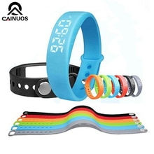 CAINUOS offre spéciale coloré femmes Bracelet Silicone montre-Bracelet intelligente podomètre W5 Calories traçage sport Bracelet montres