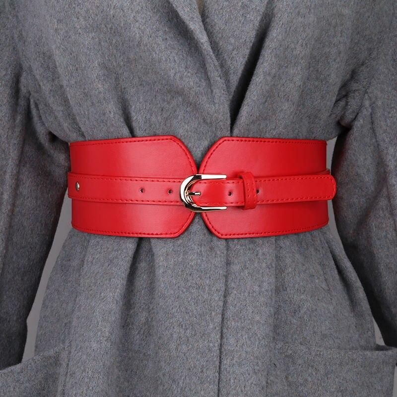 Designer belts for women high quality ladies waist cummerbunds soft pu leather belt knot dress ceint