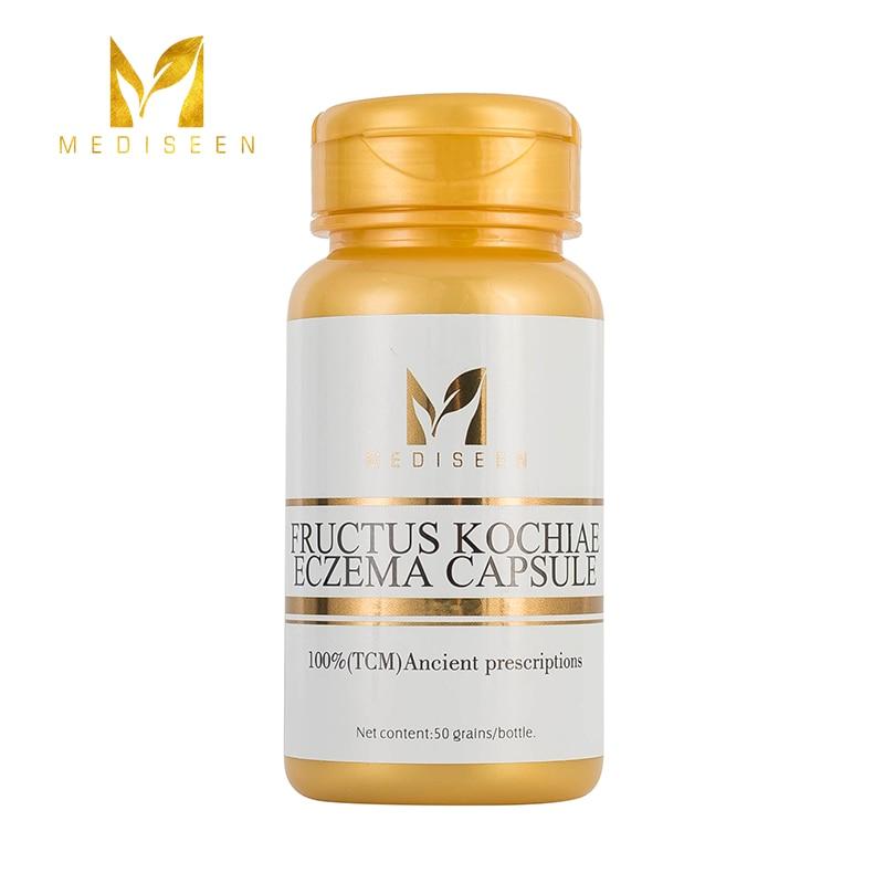 Mediseen fructus kochiae eczema cápsula, cura eczema, cura crônica eczema, crônica eczema escrotal, neurodermatite, 50 pces