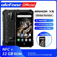 Ulefone Armor X5 MT6763 Octa core ip68 Rugged Waterproof  Smartphone Android 9.0  Cell Phone 3GB 32G