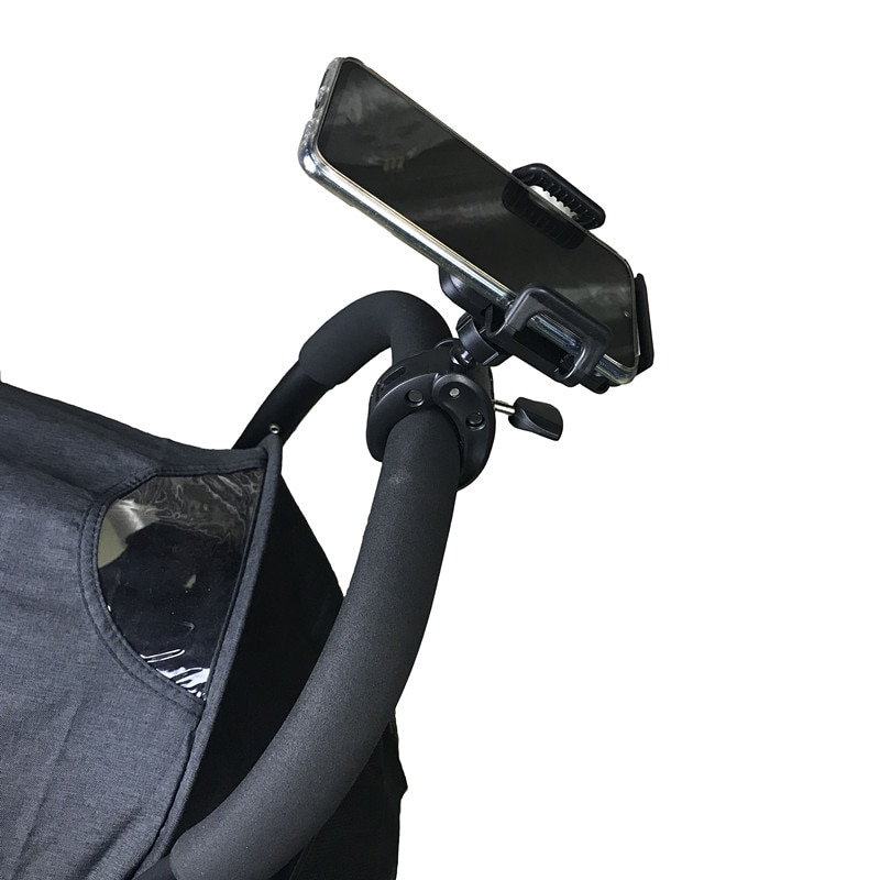 Baby Stroller Cell Phone Holder 360 Degree Rotate Universal Clamp Pram Wheelchair Aeecssory Mount Bracket  Bicycle Phone Stander