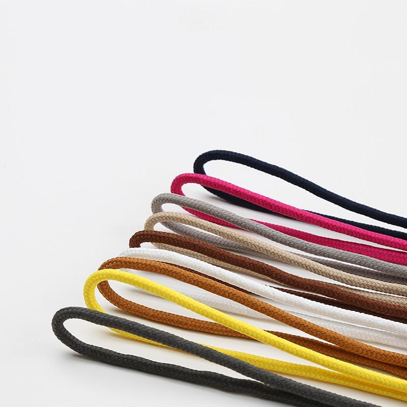 1 par de cordones de zapato sólidos redondos de alta calidad zapatos de poliéster de encaje sólido clásico redondo cordones zapatillas Botas zapatos cadena