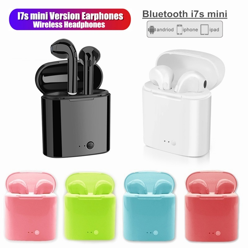 I7s mini Drahtlose Kopfhörer Bluetooth kopfhörer mini bunte Ohrhörer smart Headset Hörer Für Iphone Xiaomi Samsung Huawei