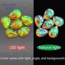 Poire forme Cabochon opale dos plat OP28 perles pierres précieuses synthétiques pour la fabrication de bijoux bricolage 3x5 ~ 7x9mm livraison gratuite