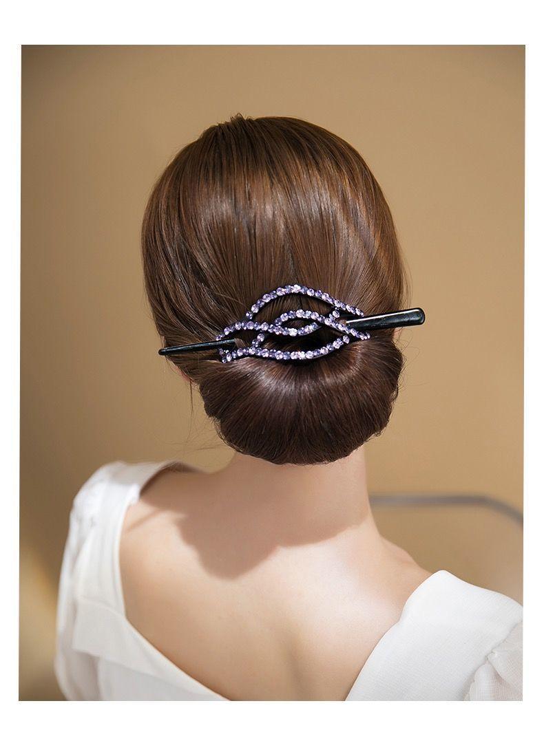 Horquilla con diamantes de imitación Para mujer, accesorio Para El cabello, horquilla...