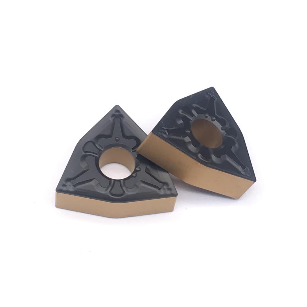 10PCS WNMG080404 TM FT4225 Two Tone For Lathe CNC Tools Lathe Cutter CNC For Steel TurningToolsCarbideTurningInserts