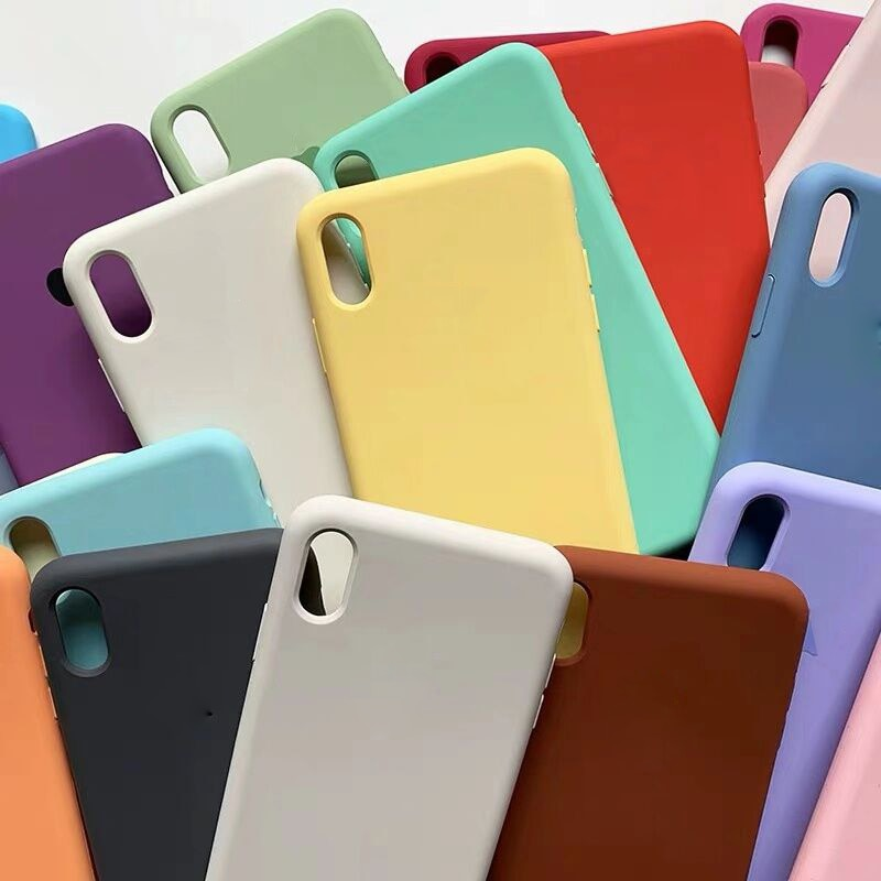 Original oficial de silicona de logotipo caso para iphone 7 7 6S 6 Plus 11 Pro X XS x MAX XR caso para Apple iphone xr X xs x max caso de la cubierta
