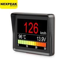 Автомобильный бортовой компьютер NEXPEAK A203 OBD2, цифровой измеритель скорости, расхода топлива, температуры, сканер OBD2