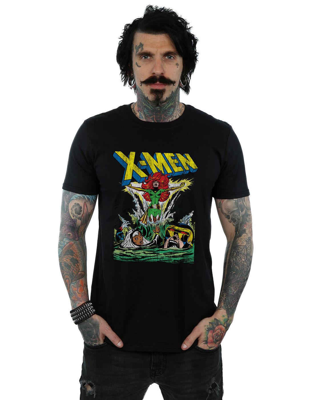 Marvel Mens X-Men Enter The Phoenix T-Shirt Short Sleeves Cotton Fashion T Shirt Free Shipping