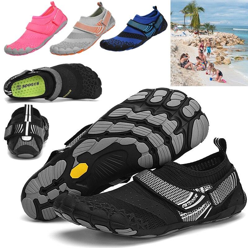 أحذية الشاطئ السباحة الصنادل المياه الخوض عبر الحدود في الهواء الطلق تسلق تيار الظهر خمسة أصابع ضوء التوازن عدم الانزلاق