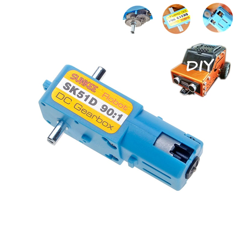 TT DC Gear Motor 1:90 Single/Double Shaft ALL-Metal Gear CW/CCW DIY Smart Racing Robot Motor