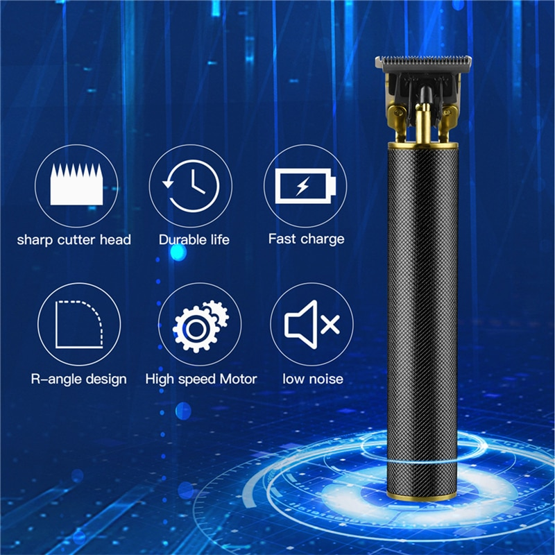 0mm T-blade Hair Trimmer Professional Hair Carving Finishing Outliner USB Rechargeable Hair Clipper Kids Hair Styling Barber T9 enlarge