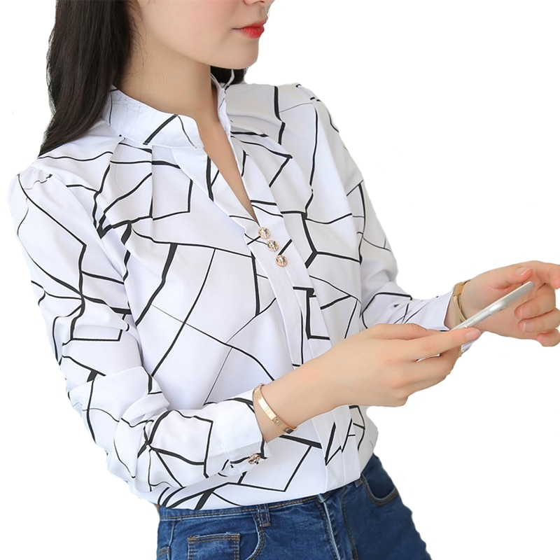 AliExpress - Women Tops And Blouses Office Lady Blouse Slim Shirts Women Blouses Plus Size Tops Casual Shirt Female Blusas
