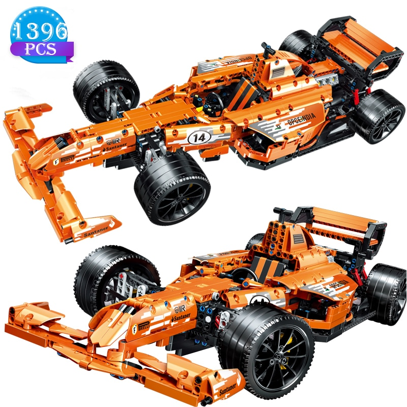 1396 Uds creador técnico deportes de competición coche fórmula estática montaje de bloques de construcción niños juguete educativo ladrillos regalo