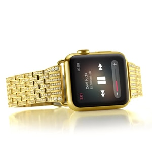 Luxury Diamond strap for Apple watch band 40mm 38mm series 5/4/3/2/1 iwatch band 40 mm 38 mm 42mm 44mm stainless steel bracelet