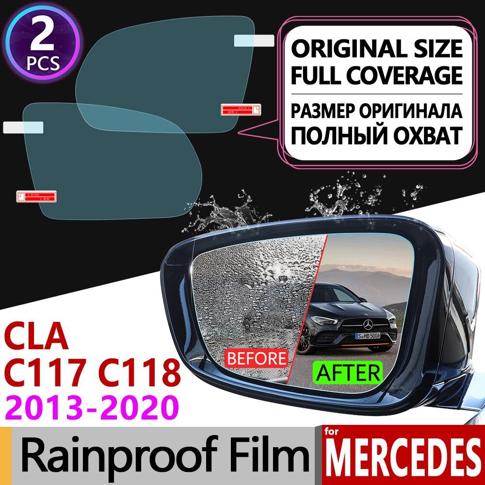 for Mercedes Benz CLA Class C117 C118 2013 - 2020 Anti Fog Film Cover Rearview Mirror Accessories CLA180 200 220 250 AMG CLA200