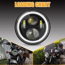 Faro delantero LED de 7 pulgadas y 60W para Honda CB400 CB500 CB1300 de 6000K y 7 pulgadas para Honda