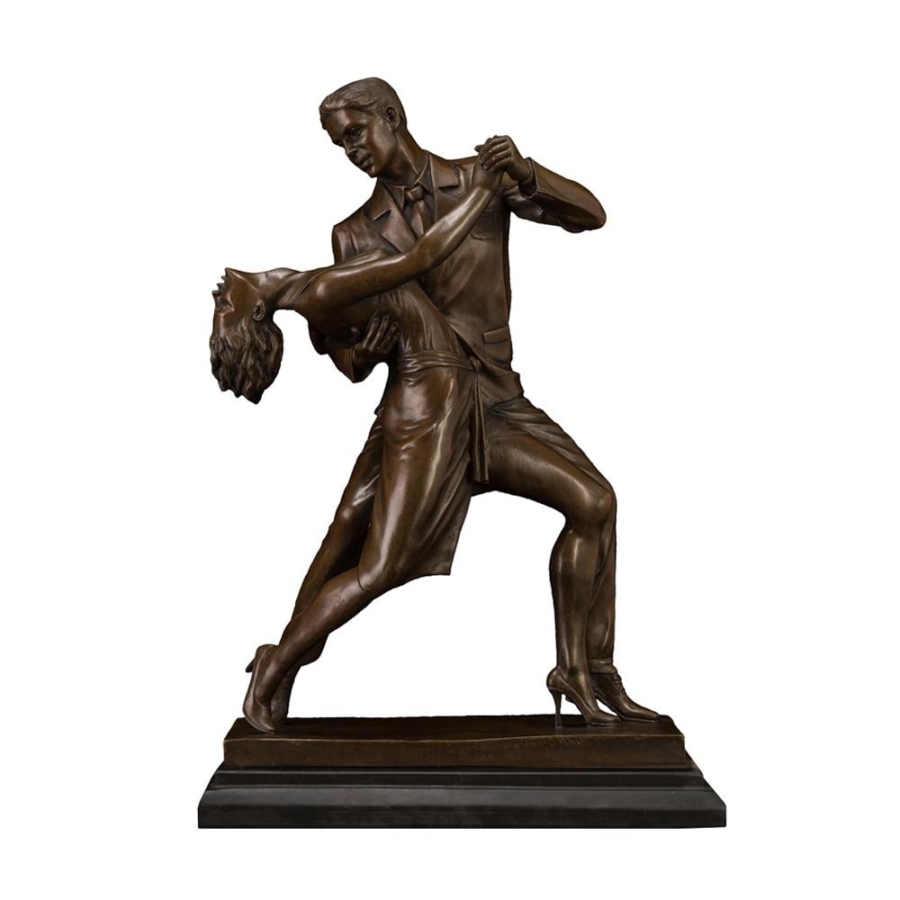 Moderno bronce escultura estatua artística romántico mujer hombres de Día de San Valentín aniversario regalos de decoración de boda