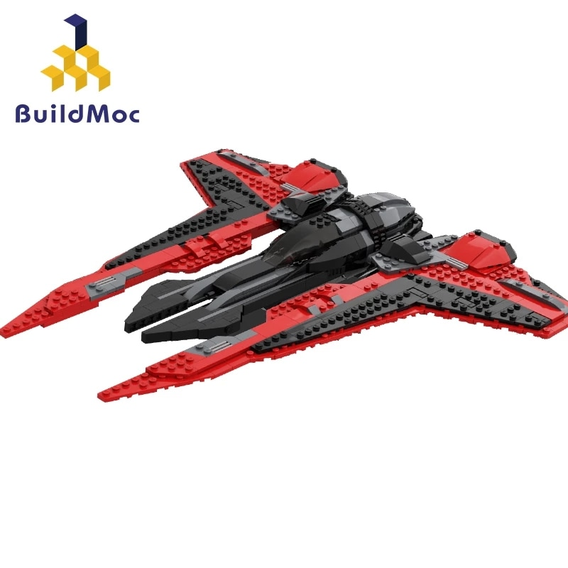 MOC-شخصيات فيلم Star Maul ، واقي TIE ، نموذج مقاتلة الفضاء ، مكعبات بناء ، ألعاب تجميع ، هدايا عيد الميلاد الإبداعية للأطفال