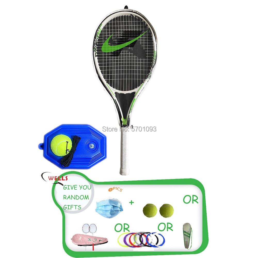 TENNIS NO.331 Tennis Racket Single Adult  Paddle Men Women Universal Set With Bag Trainer Overgrip Ball Padel intelligent tennis trainer sensor smart tennis sensor tracker tennis racket motion analyzer padel tenis badminton ios android